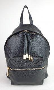Dámský italský kožený batoh 2857 - Černá *dolaro*