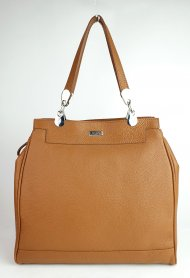 Dámská kožená kabelka FACEBAG TORRA - Cuoio *dolaro*