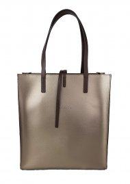 Dámská kožená kabelka FACEBAG REIMS - Bronzová *palmelato*