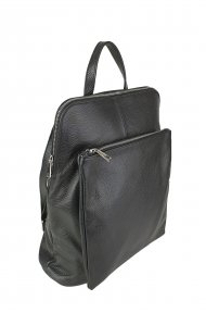Dámský italský kožený batoh KUBA - Černá *dolaro*