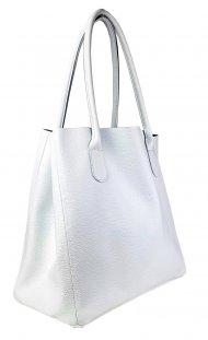 Dámská kožená kabelka FACEBAG TINA - Bílá *dolaro*