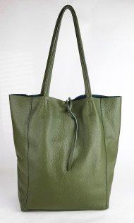 Dámská italská kožená taška 3058 - Tmavá zelená *dolaro*