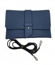 Dámská italská kožená kabelka 6176 HR - Modrá *dolaro*