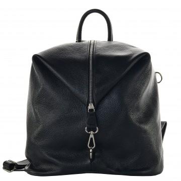 Dámský kožený batoh MASSIMO - Černá