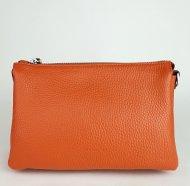 Dámská italská kožená kabelka RIPANI 7086 OJ 012 EASY BAG - Tmavá oranžová *dolaro*