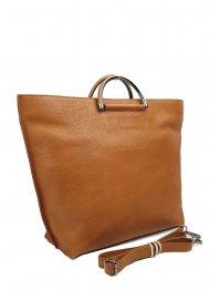 Dámská kožená kabelka FACEBAG TALIA - Cuoio *dolaro vintage*