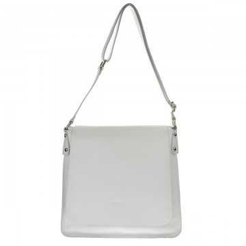 Dámská kožená kabelka FACEBAG ELIDA - Bílá