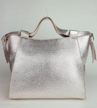 Dámská italská kožená kabelka RIPANI 9221 OM 021 ARA - Metalická růžová *dolaro*