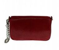 Dámská kožená kabelka FACEBAG ALBA - Červená
