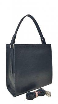Dámská kožená kabelka FACEBAG ANGE - Černá hladká