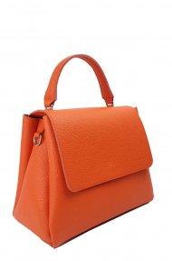 Dámská kožená kabelka FACEBAG GRACE - Oranžová oboustranná