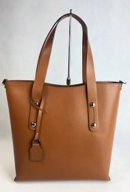 Dámská kožená kabelka FACEBAG IRENE - Cuoio