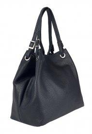 Luxusní dámská kožená kabelka FACEBAG LAURA - Černá *dolaro*