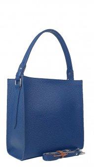 Dámská kožená kabelka FACEBAG ANGE - Tmavá modrá *dolaro*