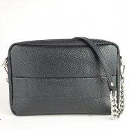 Dámská kožená kabelka FACEBAG NINA - Černá *žralok* lak