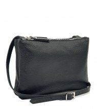 Dámská kožená kabelka FACEBAG ALLY - Černá *dolaro*
