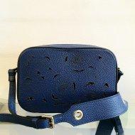 Dámská italská kožená kabelka 1654 - Modrá