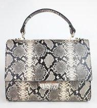 Dámská italská kožená kabelka RIPANI 2052 SP 090 GATTOPARDO - Černá + béžová had