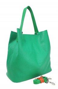 Dámská kožená kabelka FACEBAG BETH - Zelená *dolaro*