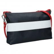 Dámská kožená kabelka FACEBAG MARY - Modrá + červená + bílá