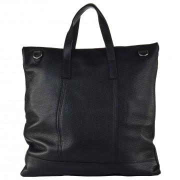 Italská kožená kabelka ELENA - Černá