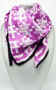 Dámský hedvábný šátek fialovo-bílý