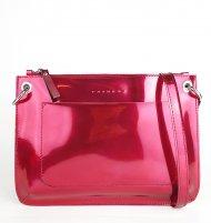 Dámská kožená kabelka FACEBAG CANNET - Růžová lak