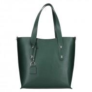 Dámská kožená kabelka FACEBAG IRENE - Tmavá zelená