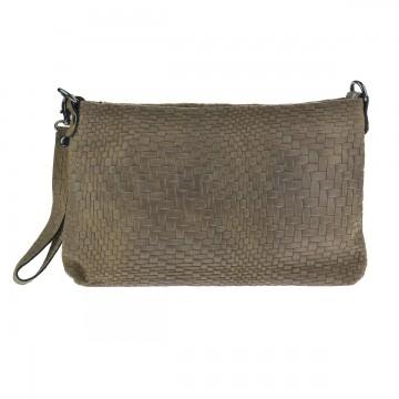 Dámská italská kožená kabelka DOCCA - Taupe