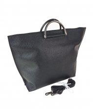 Dámská kožená kabelka FACEBAG TALIA - Černá *dolaro*