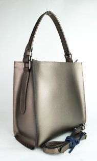 Dámská kožená kabelka FACEBAG ANGE - Bronzová hladká