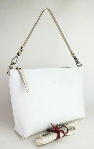 Dámská kožená kabelka FACEBAG RACHEL -  Bílá hladká