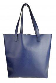 Dámská kožená kabelka FACEBAG ROSINA - Tmavá modrá *palmelato*