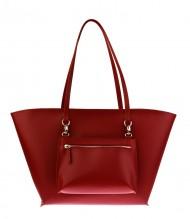 Dámská kožená kabelka FACEBAG NICE - červená ruga