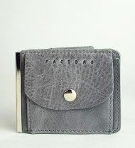 Pánská kožená peněženka FACEBAG DOLARKA - Šedá vintage