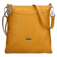 Dámská kožená kabelka FACEBAG SISA -Tmavá žlutá