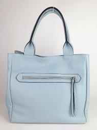 Dámská italská kožená kabelka 1048 1 - Světlá modrá *dolaro*