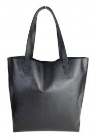 Dámská kožená kabelka FACEBAG ROSINA - Černá *ruga* se vzorem