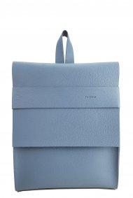Dámský kožený batoh FACEBAG SERGIO - Světlá modrá *dolaro*
