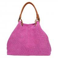 Dámská italská kožená kabelka 3970 - Růžová