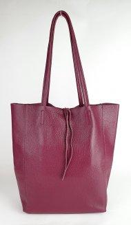Dámská italská kožená taška 3058 - Vínová *dolaro*