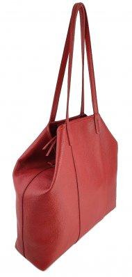 Dámská kožená kabelka FACEBAG MIA - Červená *dolaro*