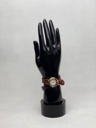 bižuterie - hodinky s koženým řemínkem