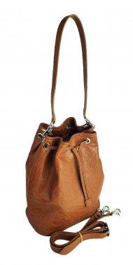 Dámská kožená kabelka FACEBAG LUISA - Cuoio se vzorem