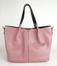 Dámská italská kožená kabelka 2v1 3065 - Starorůžová *dolaro*
