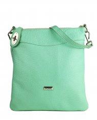 Dámská kožená kabelka FACEBAG SISA - Zelená *dolaro*
