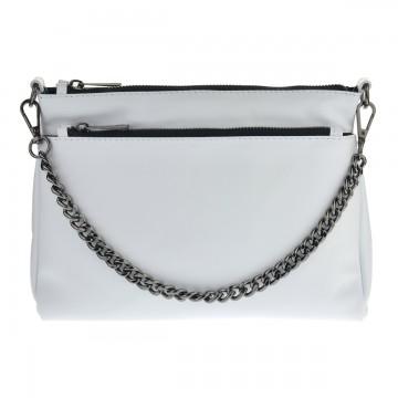 Dámská kožená kabelka FACEBAG ADA - Bílá + černá