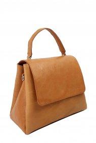 Dámská kožená kabelka FACEBAG GRACE - Přírodní hnědá