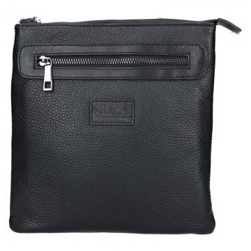 Pánská kožená taška MARCO - Černá