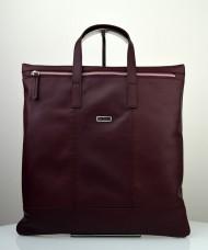 Dámská kožená kabelka FACEBAG FLAVIA - Vínová